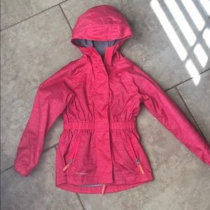 Girls Pink Champion rain jacket/wind breaker